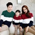 Striped Sweatshirt Casual Family Clothing Patchwork Clothes for Mother Daughter Father Son Matching Clothing Family Set HP73