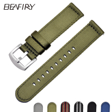 BEAFIRY Breathable Woven Nylon  Watch Band 18mm 20mm 22mm 24mm Lightweight  Canvas Watch  Straps Watchbands Sports