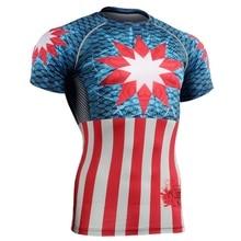 2017 Running Tops Shirts Sport Fitness Compression Shirt Men Superman Bodybuilding 3D T Shirt Gym Crossfit