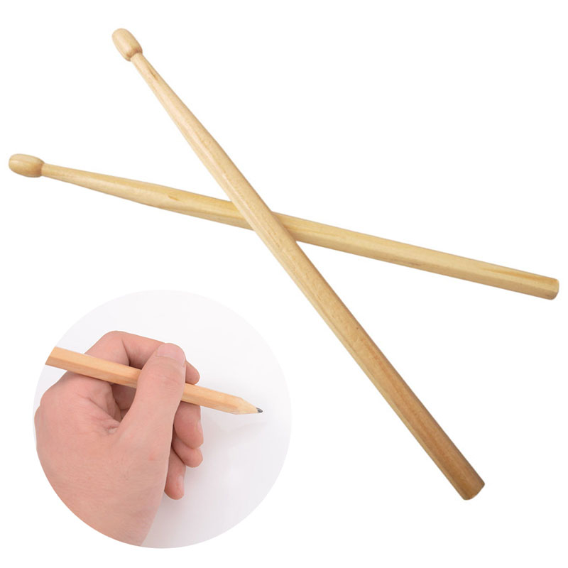Baquetas Suck UK Wood Drumsticks Pencil Log Manufacturing Baqueta  HB Writing Safe Non-toxic Pencil Drumsticks