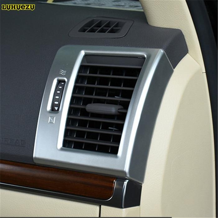 Luhuezu 2pcs Interior Air Conditoner Trim Styling Trims For Toyota Land Cruiser 200 FJ200 Accessories 2008 2017