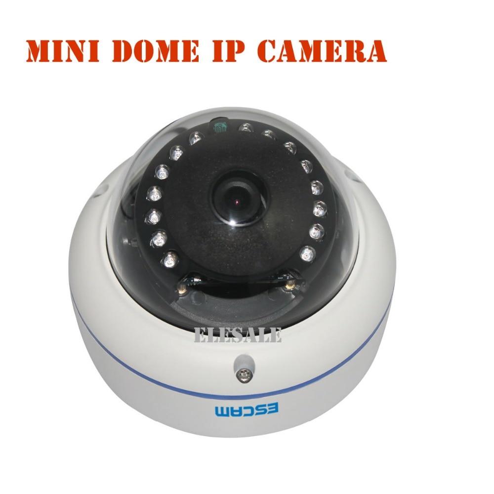 ФОТО ESCAM Q645R Dome IP Camera Mini HD 720P Waterproof Camera P2P ONVIF IR Night Vision Support Motion Detection Home Surveillance