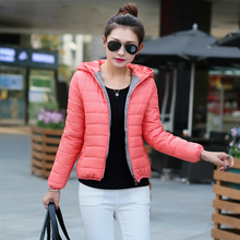 2016 Winter Coat Women Plus Size Hooded Cotton Parka Jacket Women Warm Slim Short Down Jacket Camperas Mujer Abrigo Z13