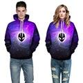 New fashion Women/men 3D Hoodies Purple Galaxy ET Print Hooded Sweatshirt harajuku Creative pullover Streetwear Hoody Tops 3XL