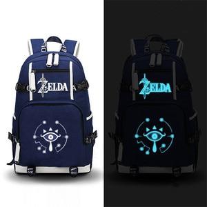 Image 5 - The Legend of Zelda: Breath of the Wild Zelda Game Backpack Canvas School Bags Travel Bagpack Laptop Backpack Zelda Bookbag