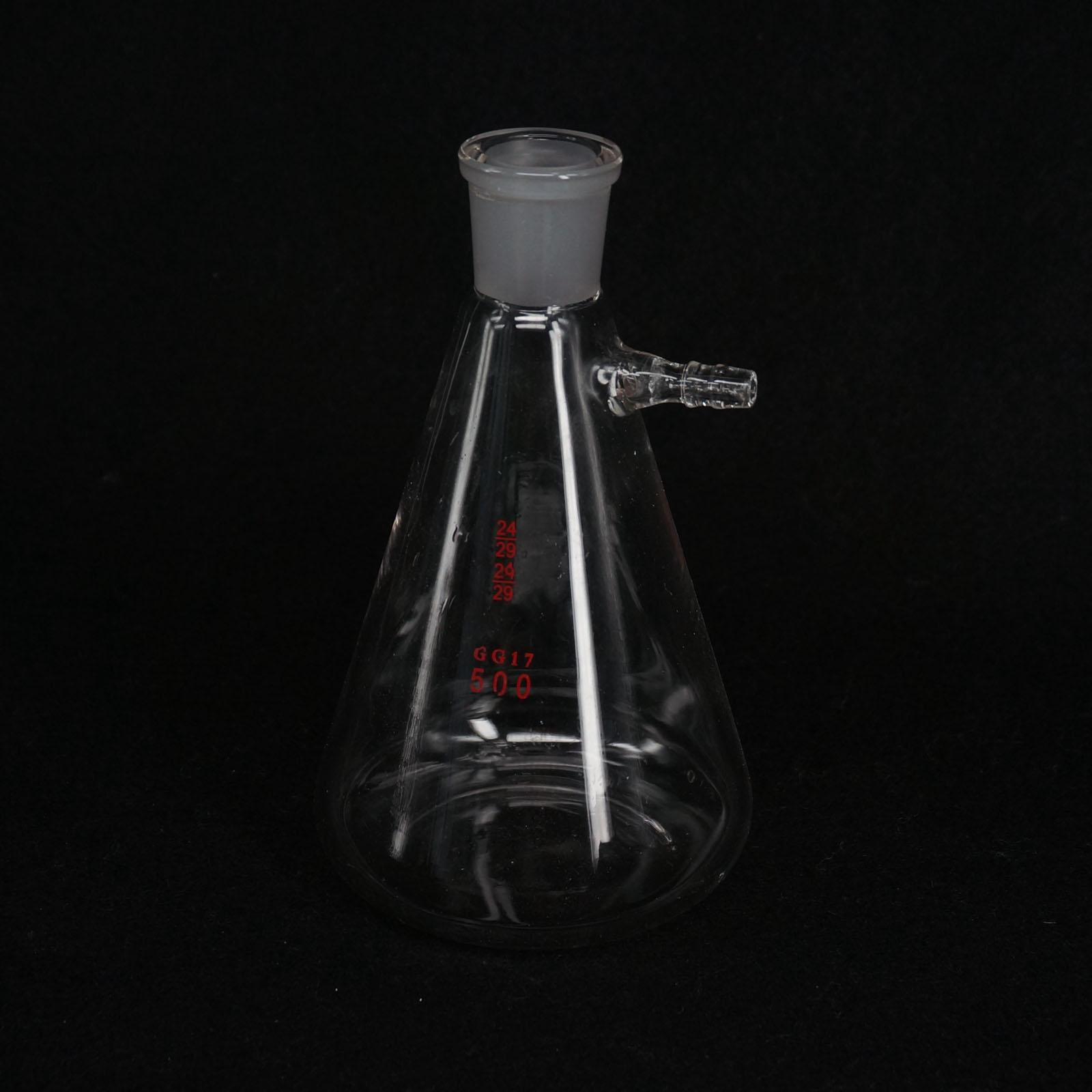 500ml 24/29 Ground Joint Conical Filter Flask with Side Arm Lab Glassware спиннинг штекерный swd wisdom 1 8 м 3 15 г