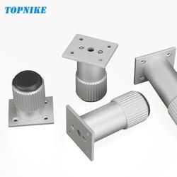 TOPNIKE 4 шт. мебель ног корпус из алюминиевого сплава ноги могут быть настроены регулируемая высота ножки для тумбы поддержка стопы