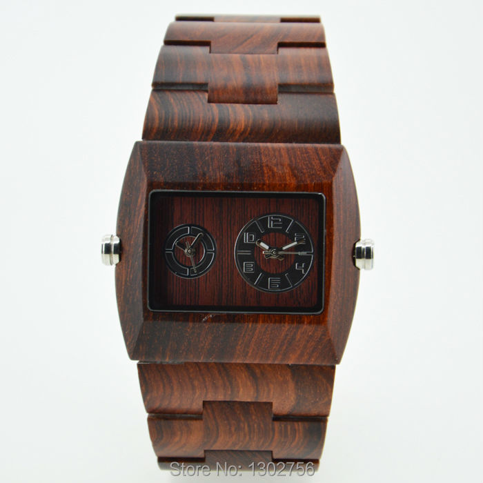 Подробнее о Fashion Top Brand Luxury Double Movement Quartz Analog Watches For Men Women We Wood Wooden Watch Time Wristwatch With Gift Box cindiry 2017 top luxury brand men s wood watch men relogio quartz movement natural brown wooden watches for men wristwatch t20