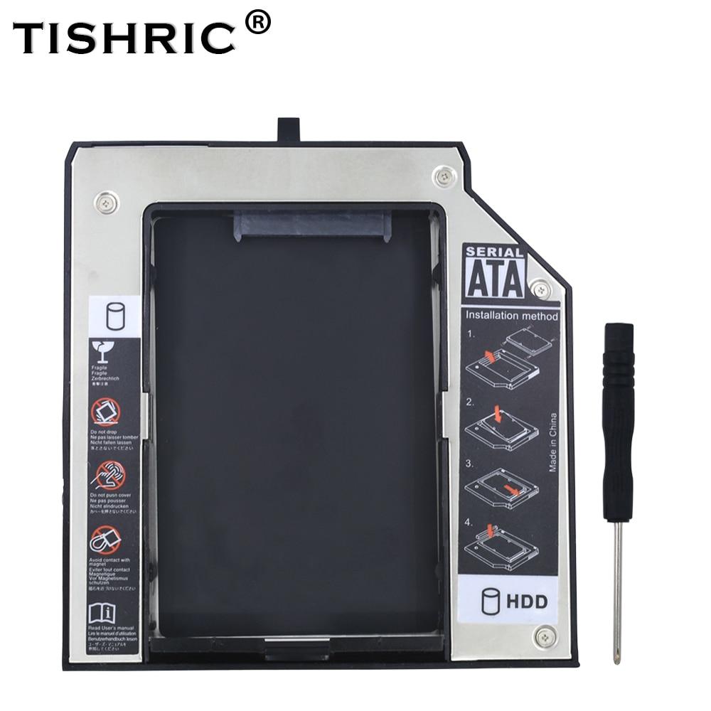 TISHRIC Aluminum 12.7mm SATA 3.0 HDD Case Caddy BOX HDD 2.5 Enclosure For Lenovo ThinkPad T420 T430 T510 T520 T530 Optibay