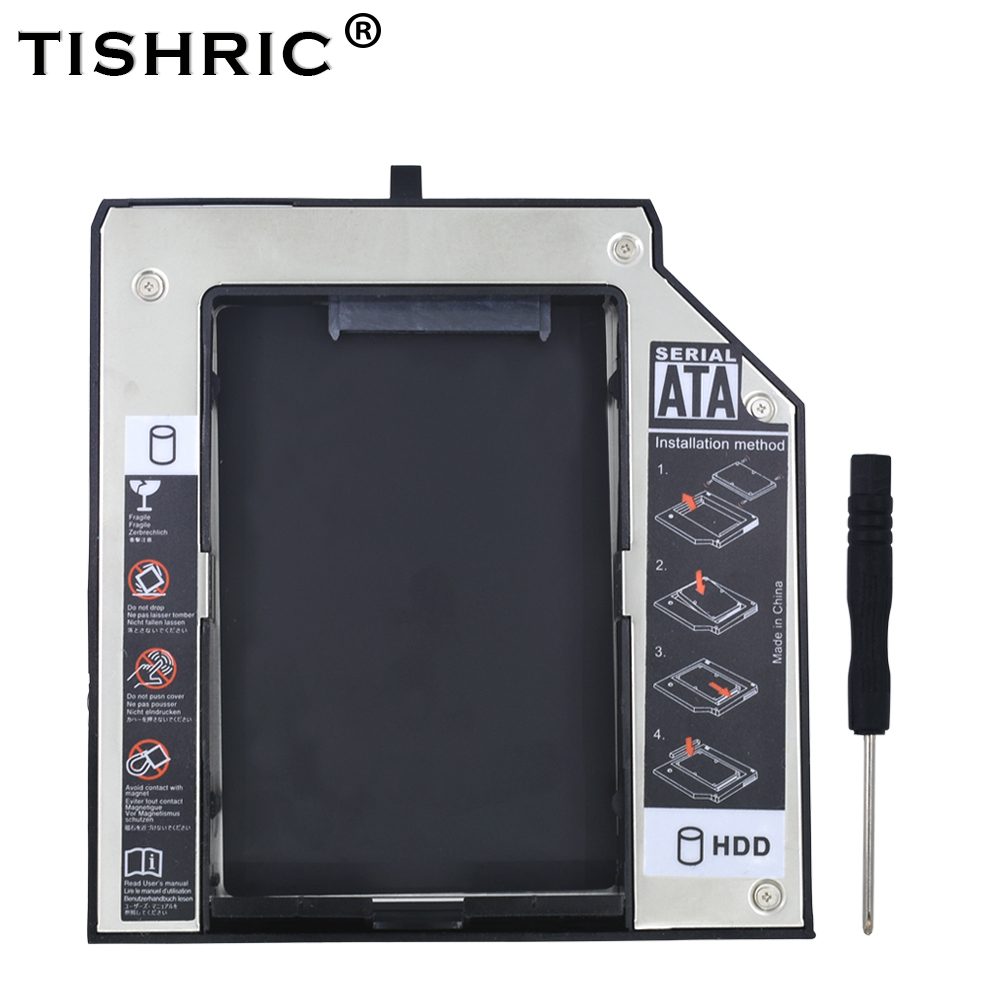 TISHRIC Aluminum 12.7mm SATA 3.0 HDD <font><b>Case</b></font> Caddy BOX HDD 2.5 Enclosure For <font><b>Lenovo</b></font> ThinkPad T420 <font><b>T430</b></font> T510 T520 T530 Optibay image