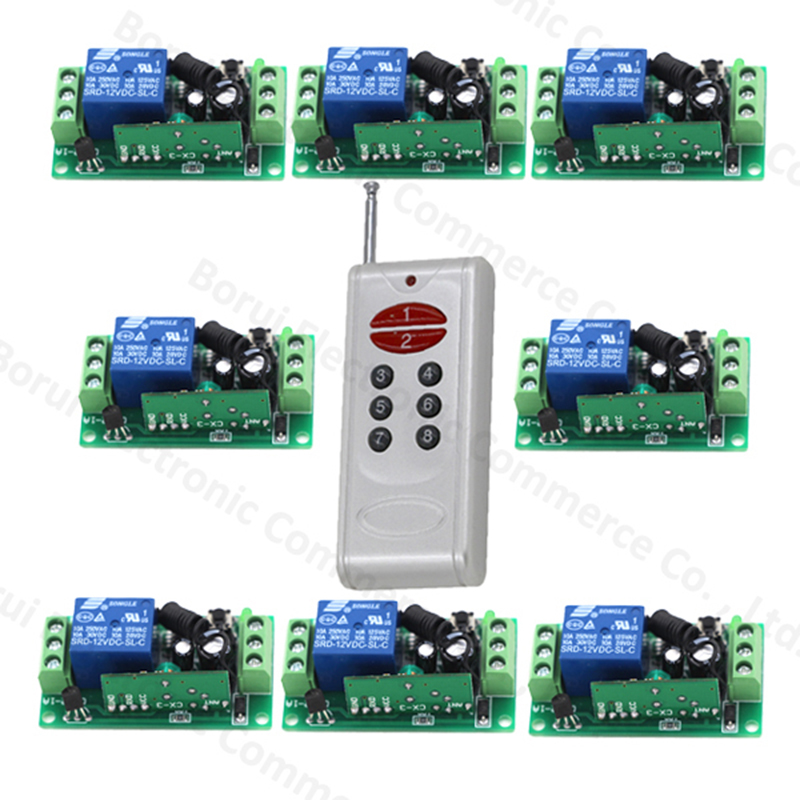 DC12V Wireless Remote Control RF Remote Switch Remote Control System Transmitters + Receiver ac 85v 250v 1ch rf wireless remote control switch system 1 transmitters