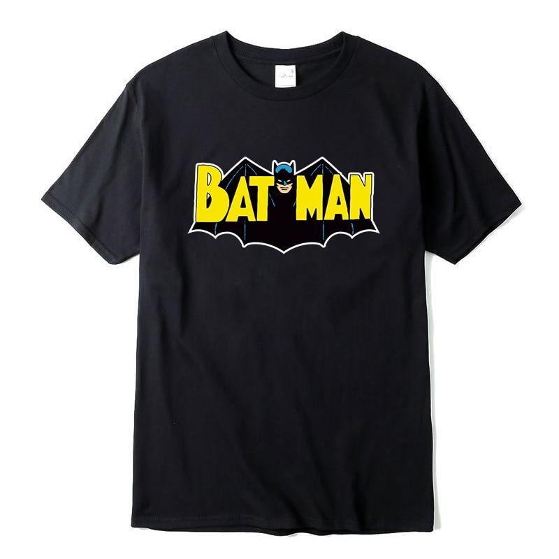 Men's Casual High Quality 100% Cotton Funny Batman Print T-Shirt Short Sleeve Men T Shirt Cool T-Shirt Men Funny T Shirts NEW
