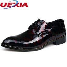 UEXIA New Men Shoes Pointed Toe Dress Oxfords Slip-on Party Male Shoe Masculino Elegant Loafers Business Anti-skid wear zapatos