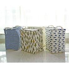 Japanese Printing Flowers Mouth Receive Basket Sundry Finishing The Ground Snacks of Laundry Barrels