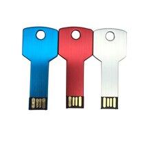 Настоящее USB 2.0 USB Flash Drive 32 ГБ 16 ГБ 8 ГБ Водонепроницаемый Металл моды ключ флешки Memory Stick Flash накопитель подарки/привод/ручка