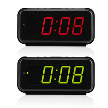 220V Meja Elektronik Digital Alarm Clock Desktop Besar 1.8 Inci LED Display Tunda Fungsi Timer(China)