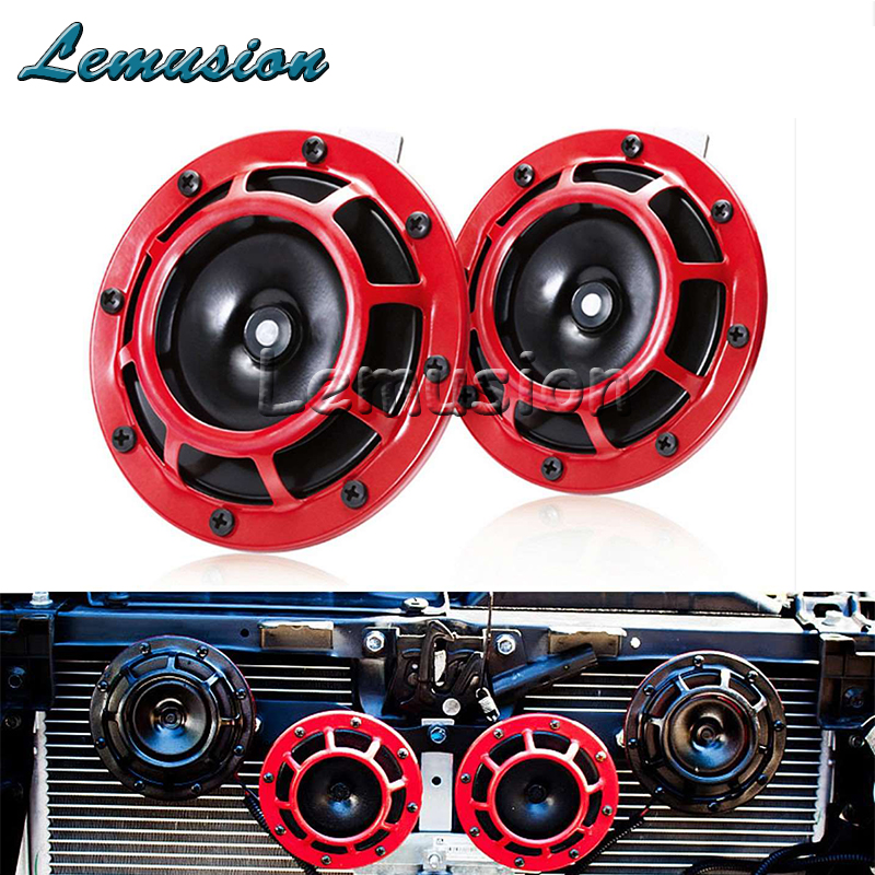 Car Horn Red Electric Blast Tone Horn Kit For BMW E46 E39