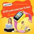 Toper melhor criança smart watch para crianças smartwatch relógio de pulso do bebê filho Anti Perdido Pulseira Relógio com GPS Wifi 3G Android os Estoque