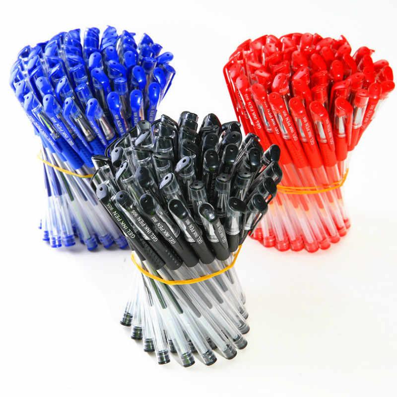 נמוך מחיר חומר תועלת ג 'ל עט מתכת כדור עט עם כחול ושחור אדום קסום עט אופנה בית ספר ציוד משרדי