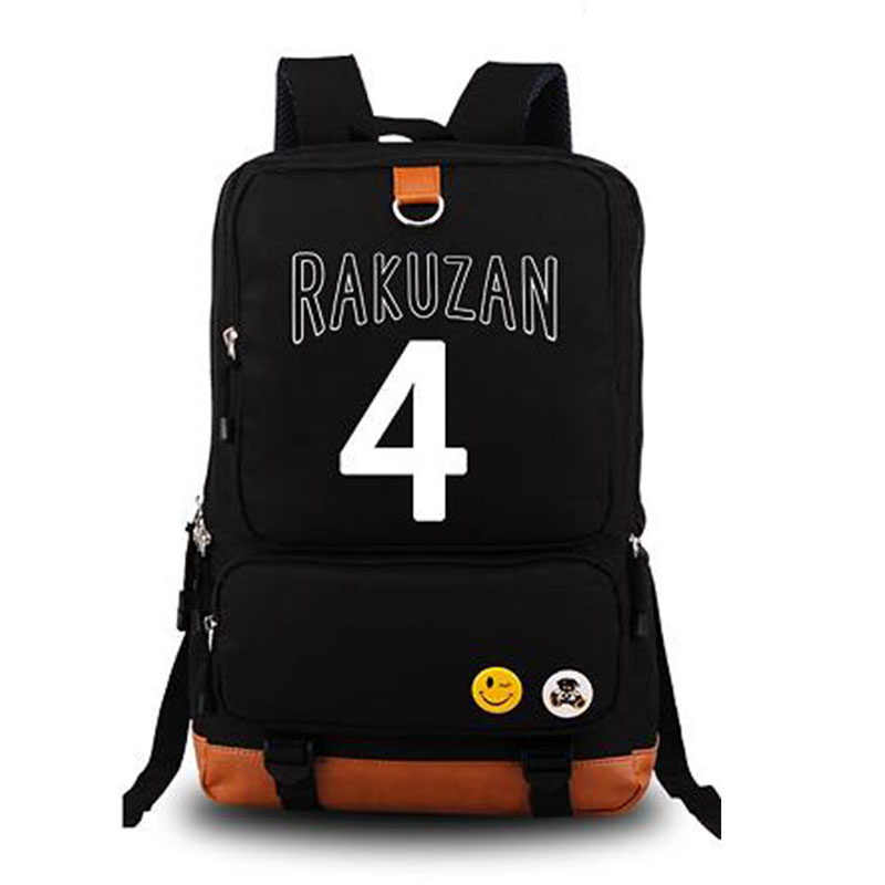 Kurokos Basketball Fashion Mens Backpack Akashi Seijuro NO.4 Print Luminous Canvas Backp ...