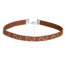 8 PCS/Set PU Leather Choker Necklaces Set for Women Steampunk Collar Lace Necklace