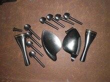 2 Sets Quality Violin Ebony Fittings 4/4 wth bras decoration 4001#