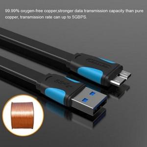 Image 3 - Vention סופר מהירות USB 3.0 למייקרו b כבל נתונים העברת כבל עבור כונן קשיח נייד גלקסי Note3 גלקסי S5