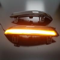 LED Dynamic Turn Signal Blinker Rear View Rearview Mirror Cover Trim Replace For Jetta MK5 GOLF 5 GTI R32 GOLF PLUS Passat B6