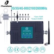 4 г LTE 2600 МГц Мобильный телефон сигнала Усилители домашние Tri Band 2 GSM 3g интернет 900/2100 70dB усиления усилитель сигнала сотовой сети ретранслятор телевизионные антенны