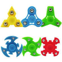 50pcs/lot 6 style mixed DHL Fedex TNT Fun Tri-Spinner Hand Spinner For Autism and ADHD Anti Stress Fidget Toys For Kids Adults
