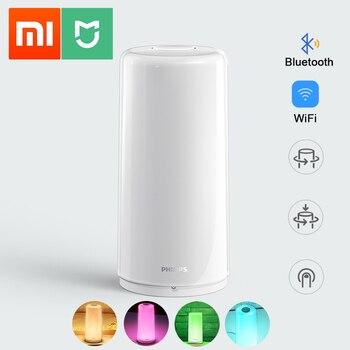 Xiaomi Mijia Smart Bedside Lamp WiFi LED Dimmable RGBW Color Smart Light 1700K-6500K 100-240V 50/60Hz APP Mi Home Philips Zhirui
