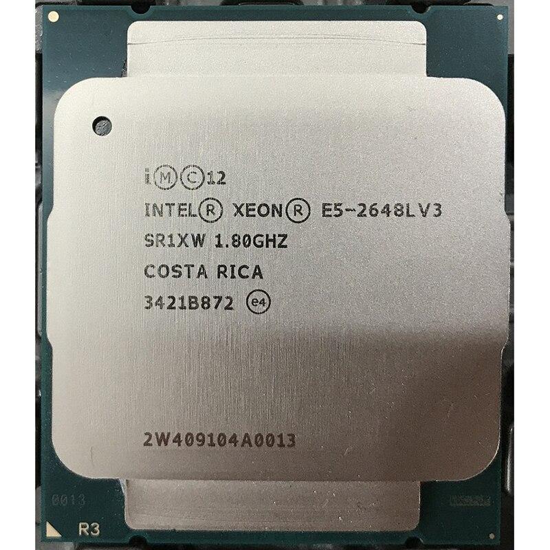 E5 2648LV3 positif 12/24 1.8 chargé avec 2.1 noyau 2.5G sort 2650V3 V4