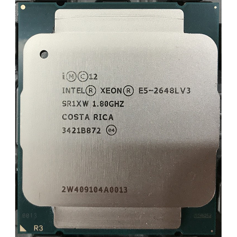 E5 2648LV3 positive 12/24 1.8 loaded with 2.1 core 2.5G
