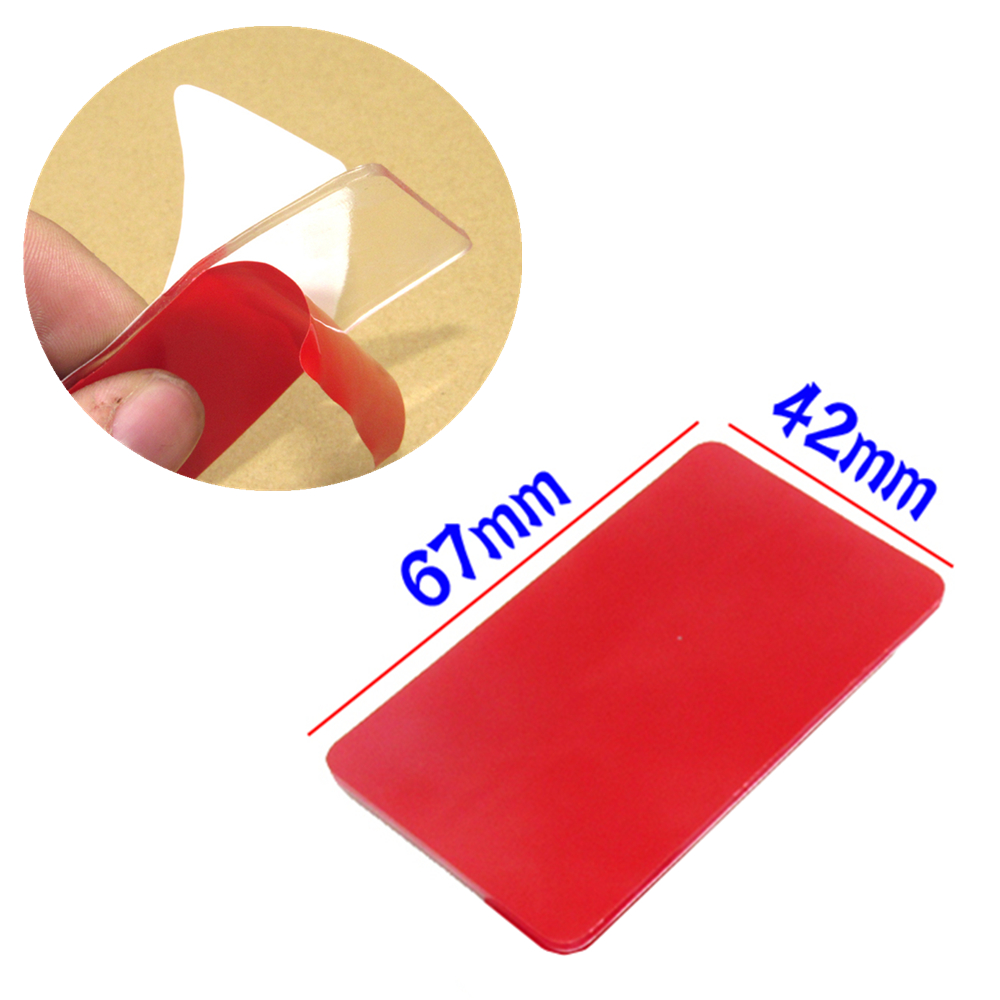 Front Windshield Rain Sensor Auto Glass Glue Stickers Self Adhesive Rectangle Gel Pad Replacement Car Accessories For ALL Models