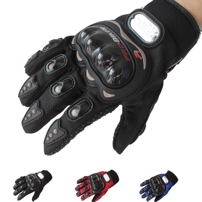 Gloves men full finger motorcycle mesh gloves moto...