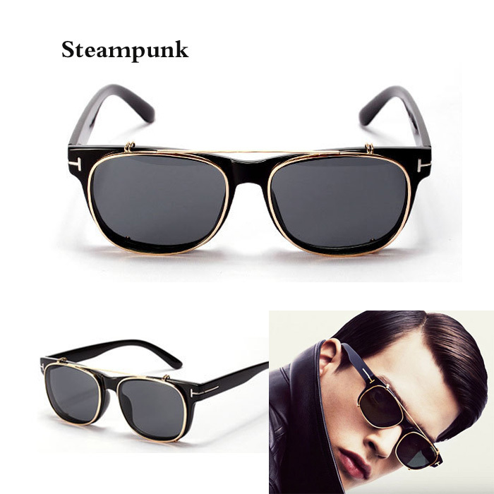 cool clip on sunglasses tom men 2015 new fashion vintage. Black Bedroom Furniture Sets. Home Design Ideas