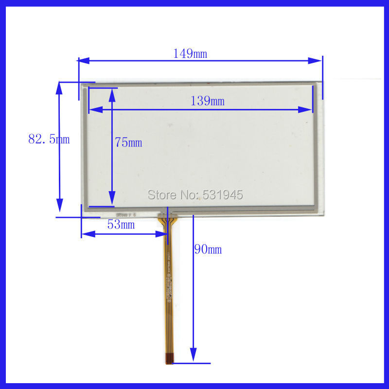 ZhiYuSun Wholesal 6.1 Inch 6.2 Inch 148mm*82mm 149*83mm 4 Wire Resistive Touch Screen Digitizer Panels GPS Navigation