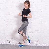 2017 New Style Cross Yoga High Waist Inspired Ballet Dance Sporting Leggings Fitness Tight Bandage Yoga Cropped leggings Hot