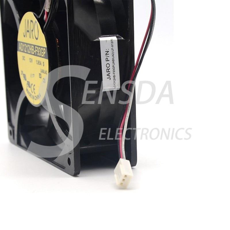 120mm 38mm AD1212HB-F93GP 12V 200CFM PC Cooling 3pin Metal 4 Screws Ball Bg