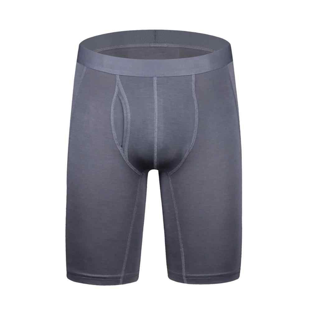 Moda seksi artı boyutu uzun baksır şort erkek pamuk nefes şort boksörler külot iç çamaşırı erkek külot Boxer erkek yağ 6XL
