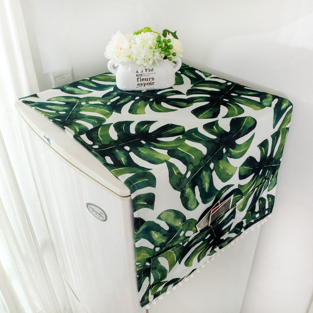 Party Supplies Kids' Clothing, Shoes & Accs Leaf Pattern Refrigerator Cloth Single Door Refrigerator Dust Cover Pastoral Double Open Towel Washing Machine Cover Towel 1pcs