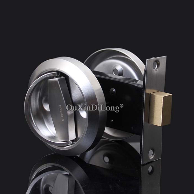 HOT 304 Stainless Steel Cup Handle Recessed Door Handles Cabinet Invisible Pull Handle Fire Proof Set Disk Ring Lock 4 Colors earth star 12 inches 304 stainless steel propane fire pit ring burner promotion price page 2
