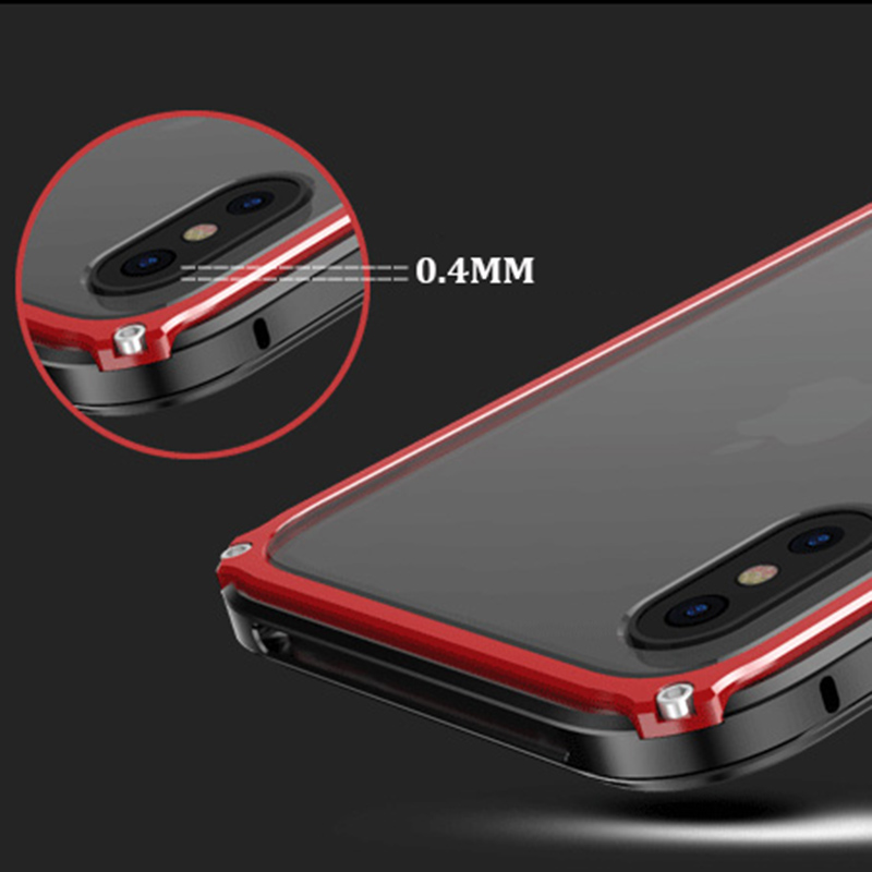 buy online fab5c 7332a US $10.89 25% OFF|Metal Bumper For iphone 8 case cover Luxury aluminium  frame for iphoneX 8 plus clear Transparent Back shockproof phone case-in  Phone ...