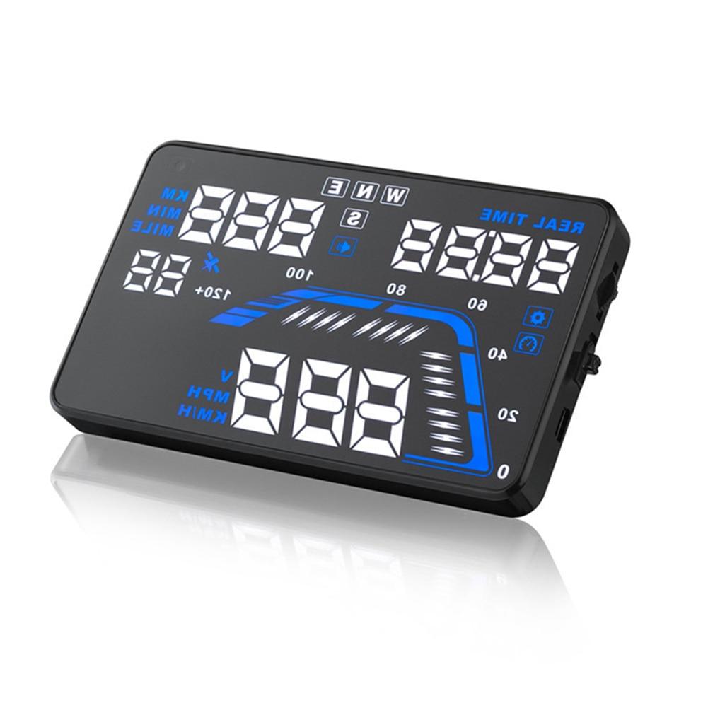 Geyiren Q7 5,5 Универсальный Авто автомобиля gps HUD Скорость одометром Head UP Дисплей Цифровой автомобиль Скорость ometer более Скорость оповещения