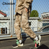 CHINISM Army Tactical Brand Pants Mens CN PLA Camouflage Big Pocket Loose Trousers 2018 Autumn Winter Stylish Jogger Pants