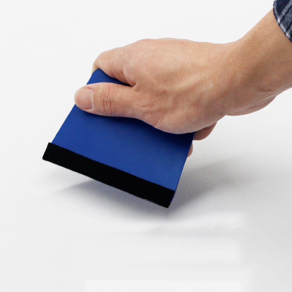 Image 5 - Blue Trapezium Squeegee Sign Making,Vehicle Wrap Squeegee with Felt And Tinting Application Tool MO 18BF-in Car Stickers from Automobiles & Motorcycles