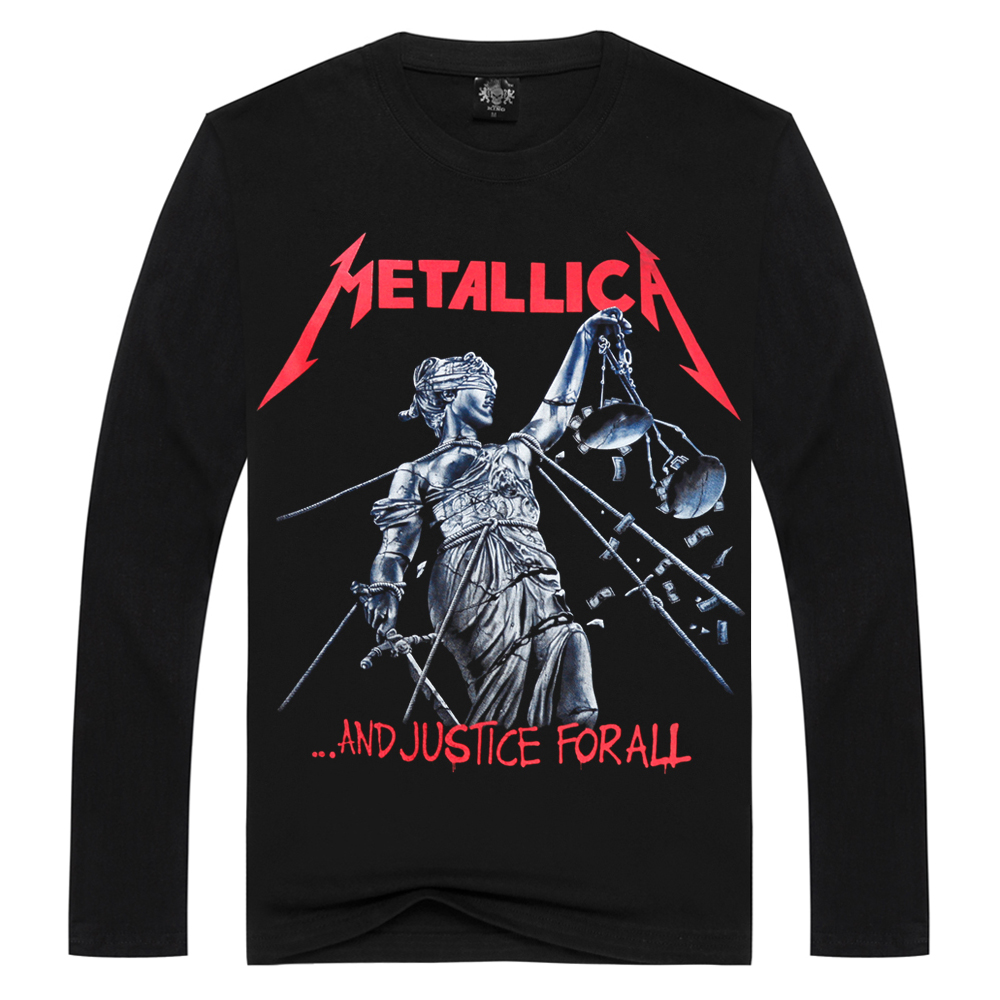 Long sleeve Metallica   t     shirts   for men   t     shirt   Cotton fashion brand   t     shirt   men Casual long Sleeves heavy metal   T  -  shirt   Men
