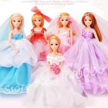 32CM Original Doll Princess Wedding Dress Fashion Clothing Gown Girls Gift Handmade BJD Toys Fabric Soft Clothes For Barbie Doll