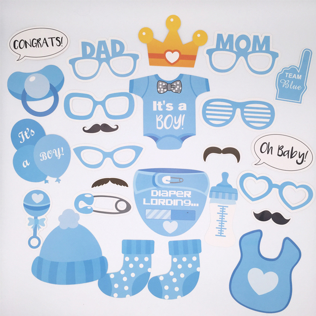 Baby Shower Props Photo Booth It Is A Boy Baby Happy Birthday