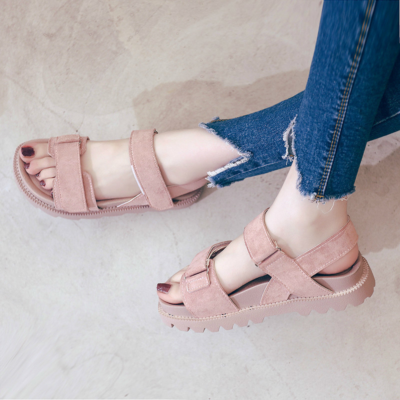 Wedges Shoes For Women High Heels Sandals Summer  Leather Wedge